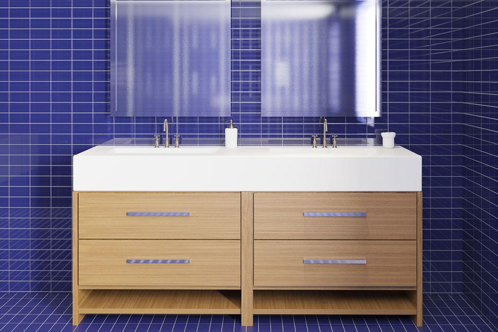 Custom Bathroom Vanity Floor