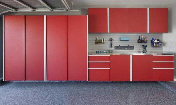 Garage Cabinets Red