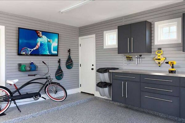 Garage Dark Grey Cabinets